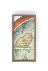 Bethia Brehmer Bethia Brehmer - Cat on Perch Clock Etching