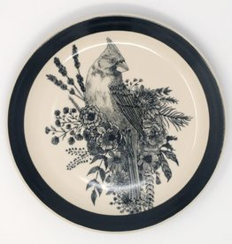 Erica Lynn Hood Erica Lynn Hood - Cardinal & Blooms Large Plate