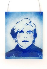 Jennifer Rainey & Adam Bruce Wentworth Jennifer Rainey and Adam Bruce Wentworth - Andy Warhol Blue Glass Panel