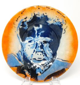 Jennifer Rainey & Adam Bruce Wentworth Jennifer Rainey and Adam Bruce Wentworth - Wolf Man Glass Plate