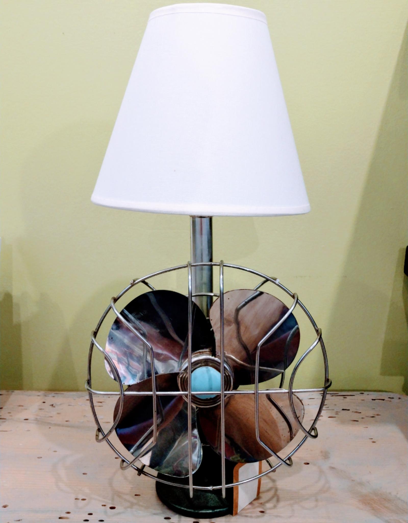 Jody Johnson Jody Johnson - 1940's Blue Green Fan Lamp