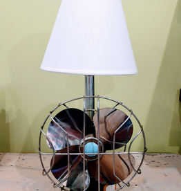 Jody Johnson Jody Johnson - 1940's Blue Green Fan Lamp
