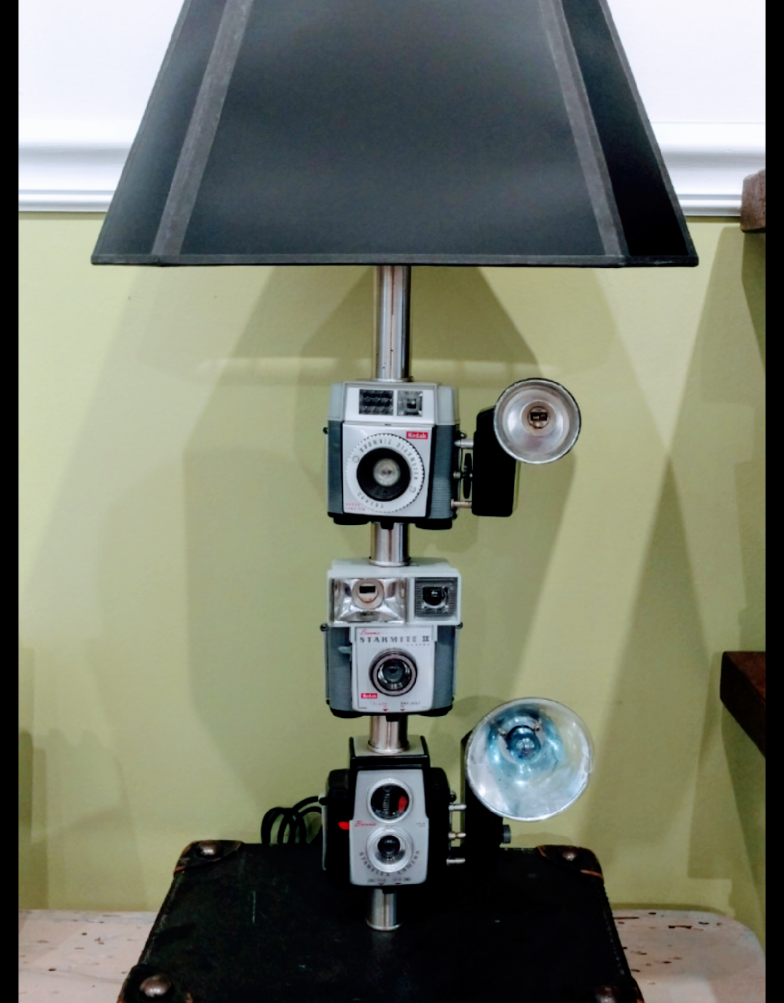 Jody Johnson Jody Johnson - 3 Stack Camera Lamp w Leather Case Base