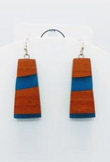 Resin River Designs Resin River Designs - Wood and Resin Earring w/Stainless Steel Fish Hooks - ID104