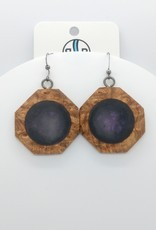 Resin River Designs Resin River Designs - Wood with Resin and Epoxy Earring w/ Stainless Steel - ID107