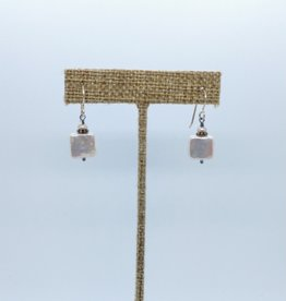 Acqua Divine Acqua Divine - Square Pearl Earrings W/ Sterling Silver Hooks