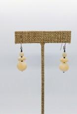 Acqua Divine Acqua Divine - Mother of Pearl w/ Pyrite Graduated Earrings - Sterling Silver Hooks AD3