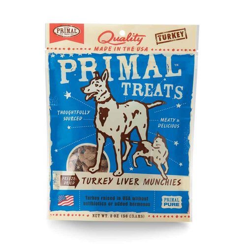 Primal Turkey Liver Munchies 2oz
