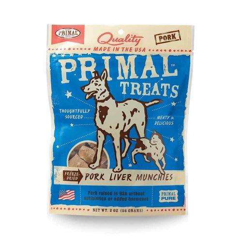 Primal Pork Liver Munchies 2oz