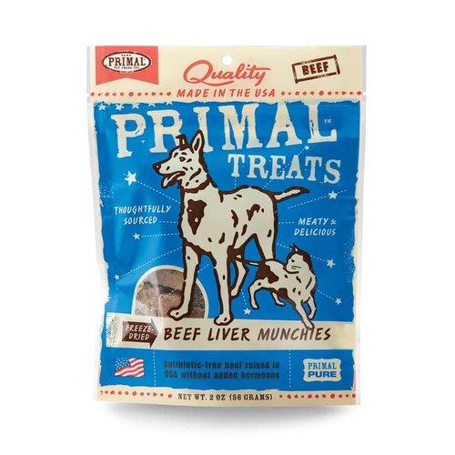 Primal Dog Beef Liver Munchies 2oz
