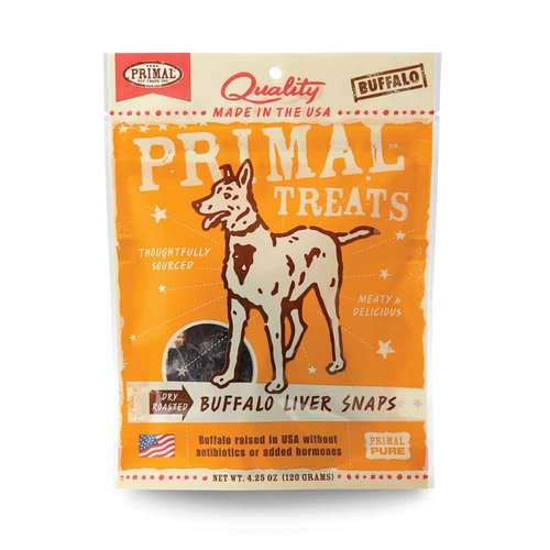 Primal Dog Buffalo Liver Snaps 4.25oz