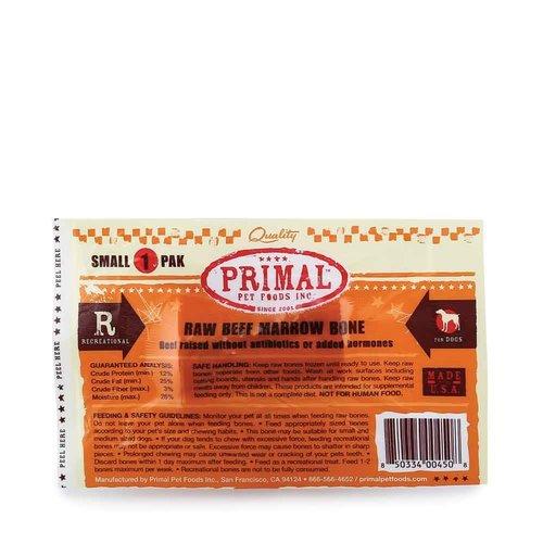 Primal Frozen Beef Bones Small 1 pack