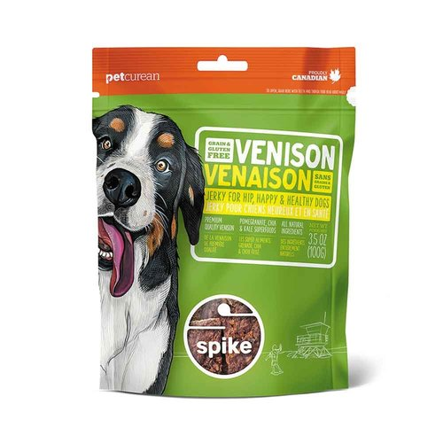 NOW! Spike GF Venison Jerky Treats 4oz