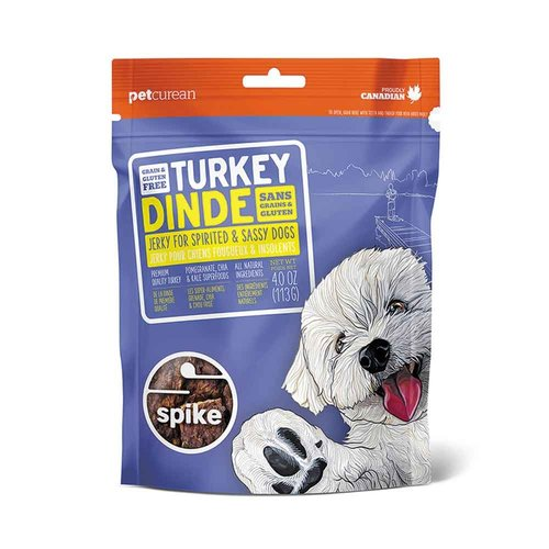 NOW! Spike GF Turkey Jerky Treats 4oz
