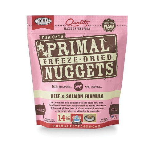 Primal Cat Freeze Dried Beef and Salmon