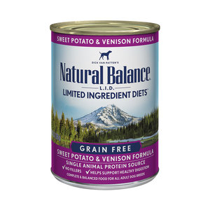 Natural Balance Dog LID Venison & Sweet Potato 13oz