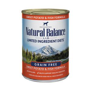 Natural Balance Dog LID Fish & Sweet Potato 13oz