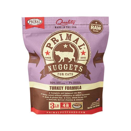 Primal Cat Frozen Nuggets Turkey 3lb