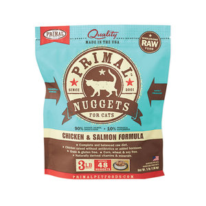 Primal Cat Frozen Nuggets Chicken and Salmon