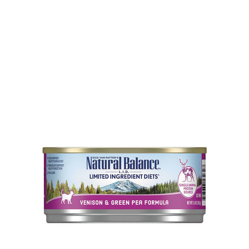 Natural Balance LID Cat Venison with Green Pea 5.5oz
