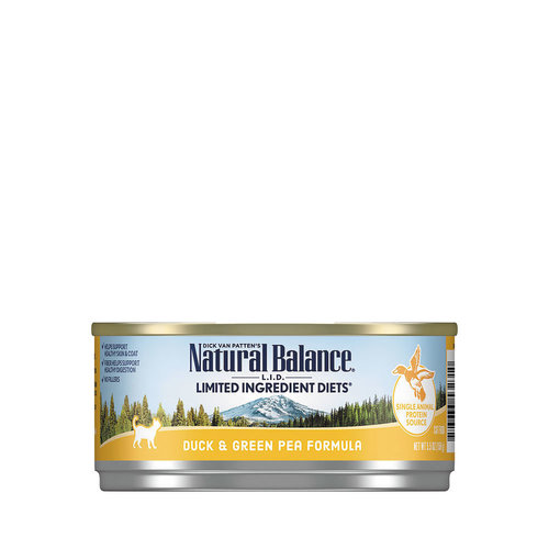 Natural Balance LID Cat Duck with Green Pea 5.5oz