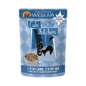 Cats in the Kitchen 1if by land, 2 if by sea Pouch 3oz