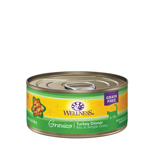 Wellness Cat Gravies Turkey 5.5oz