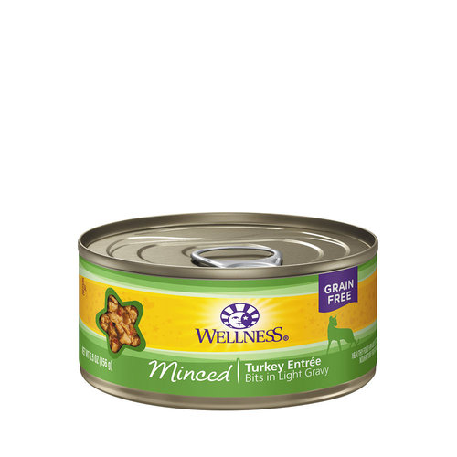 Wellness Cat Minced Turkey 5.5oz