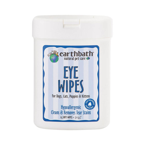 Earth Bath Dog/Cat Wipes Hypo Allergenic Eye 25ct
