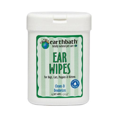 Earth Bath Dog/Cat Wipes Deodorizing Ear 25ct