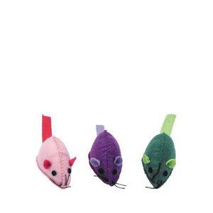Bergan Cat Toy Turbo Felt Mice