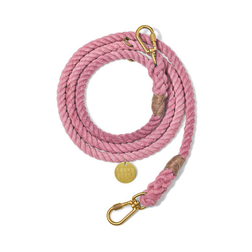 Found My Animal Rope Leash Blush
