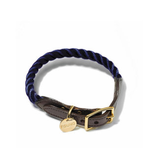 Found My Animal Rope Collar Navy