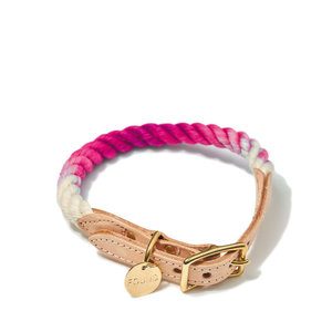 Found My Animal Rope Collar Magenta Ombre