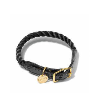 Found My Animal Rope Collar Black