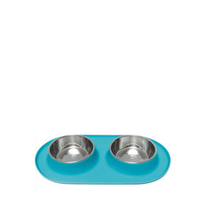Messy Mutts Dog Double Bowl Large