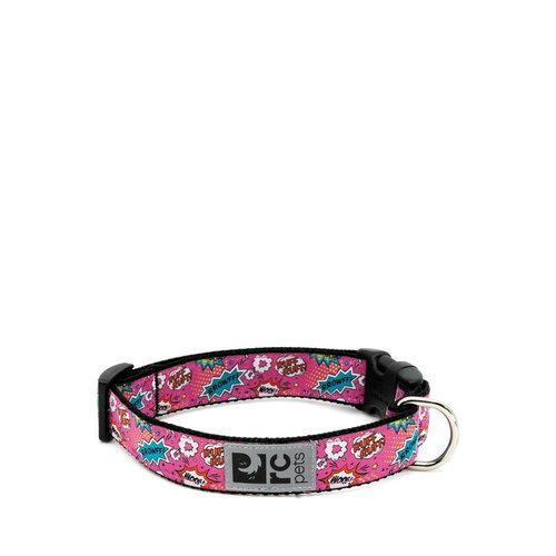 RC Pets Clip Collar Comic Pink