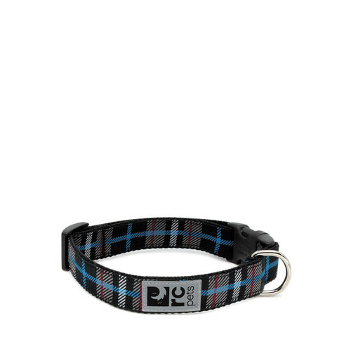RC Pets Clip Collar Black Plaid