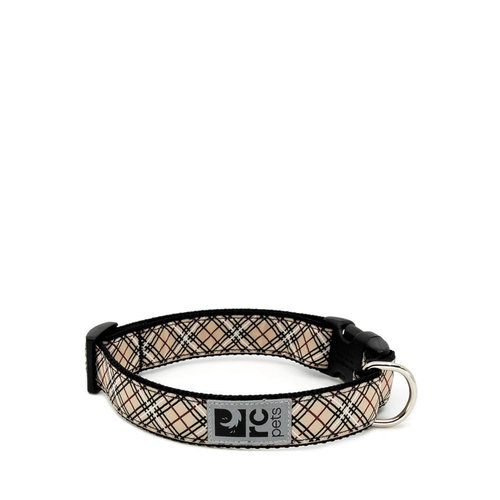 RC Pets Clip Collar Tan Tartan
