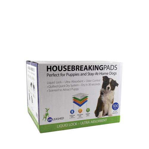 Unleashed Housebreaking Pee Pads 100ct