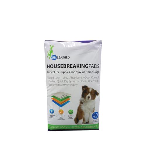 Unleashed Housebreaking Pee Pads 30ct