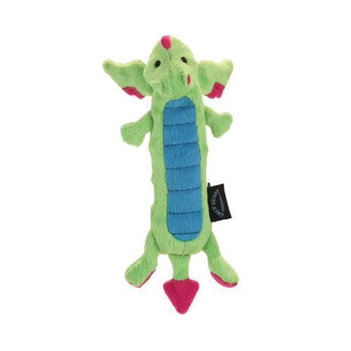 GoDog Checkered Skinny Dragon Chewguard Green Small