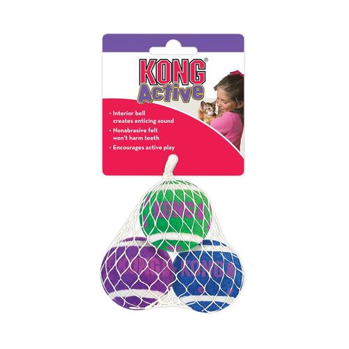 Kong Tennis Balls With Bells 3 pack