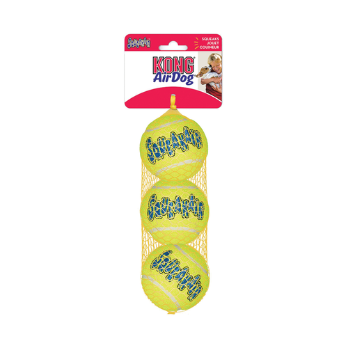 Kong AirDog Tennis Squeaker Balls Medium 3 pack