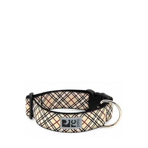 RC Pets Collar Clip Wide Tan Tartan