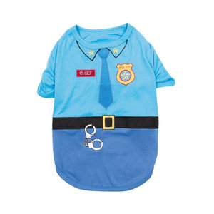 Parisian Pet T-Shirt Halloween Officer Woof