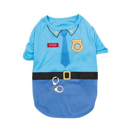 Parisian Pet T-Shirt Halloween Officer Woof