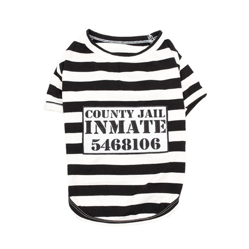 Parisian Pet T-Shirt Halloween Inmate