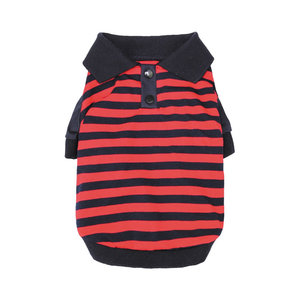 Parisian Pet Parisian Fashion Shirt Striped Polo Red/Navy