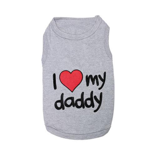 Parisian Pet T-Shirt I love Daddy